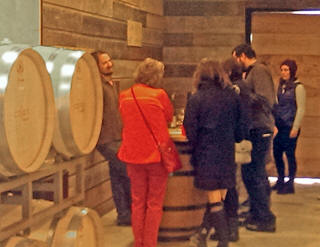Wine tasting on one of Open Range Wine Tours events ourside of Fredericksburg, TX.